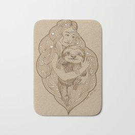 Slothy Christmas Bath Mat