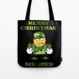 Merry Christmas emoji soldier Tote Bag