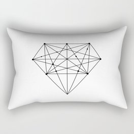 Geometric Diamond black-white poster design lowpoly fashion home decor canvas wall art Rectangular Pillow