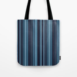 Icy Blue Stipes Tote Bag