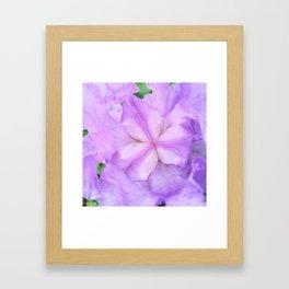 513 - Abstract Flower Design Framed Art Print