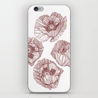poppies iPhone & iPod Skins featuring Poppies by Annike