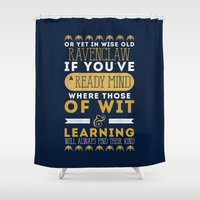 ravenclaw Shower Curtains featuring Ravenclaw by Dorothy Leigh