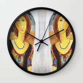 Inspired Modigliani Wall Clock