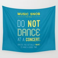 concert Wall Tapestries featuring Dancing at a Concert — Music Snob Tip #323 by Elizabeth Owens