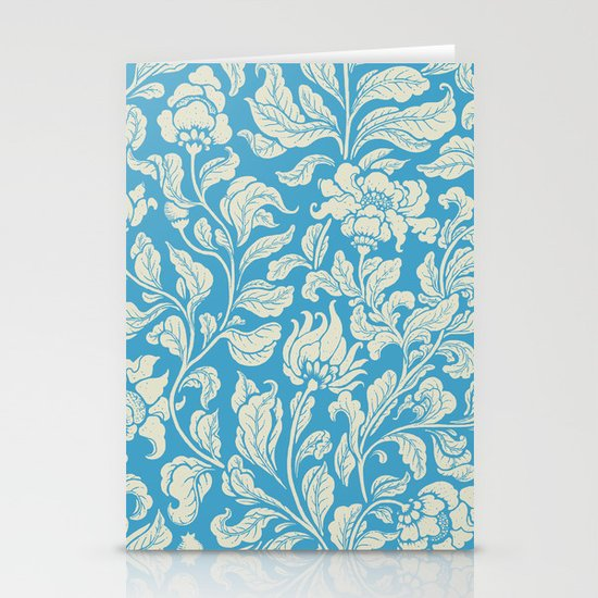 neo ethnic cerulean Stationery Cards