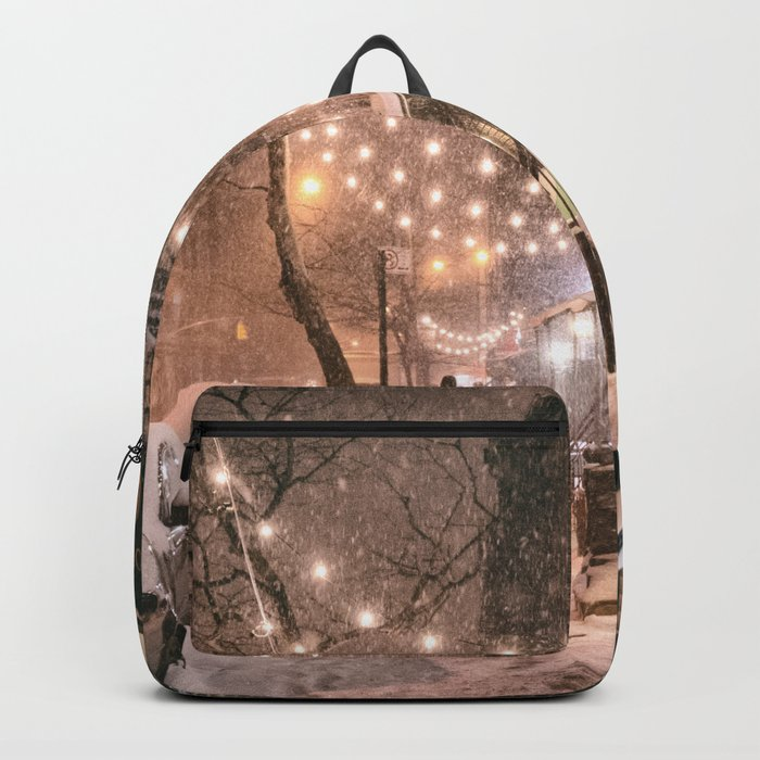 Snow - New York City - East Village Backpack