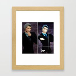 New Drake Darklight autographed print with his new look  Framed Art Print