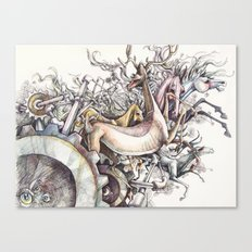 Twisted Menagerie Canvas Print
