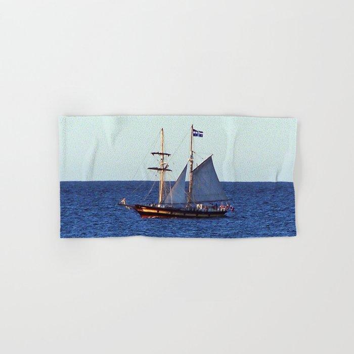 Quebec Sailboat Hand & Bath Towel