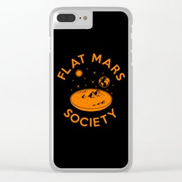 Flat mars society Clear iPhone Case