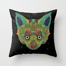 Intergalactic Fox Throw Pillow