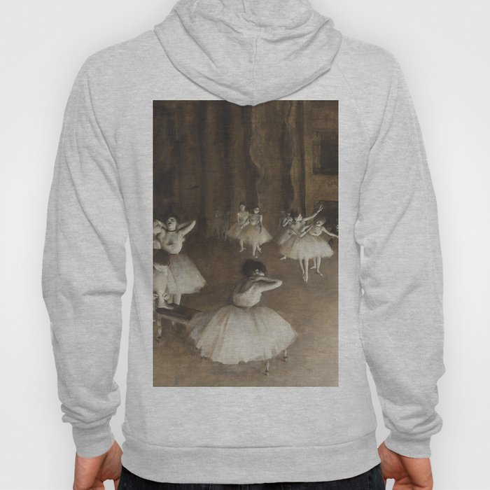 Ballet Rehearsal on Stage by Edgar Degas Hoody