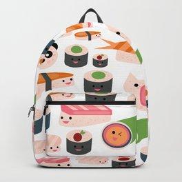 Kawaii sushi white Backpack