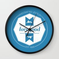luna lovegood Wall Clocks featuring Lovegood Handcrafted Jewelry by Dorothy Leigh