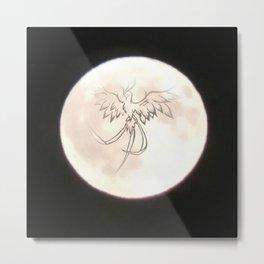 Phoenix Moon Metal Print