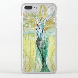 Mermaid Awakening Clear iPhone Case
