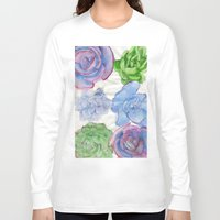 succulents Long Sleeve T-shirts featuring Succulents by Kate Havekost Fine Art
