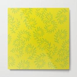Leafy swirls Metal Print