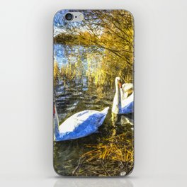 A Pair of Swans Art iPhone Skin