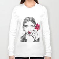 cara Long Sleeve T-shirts featuring CARA  by Roxanne Jade Dentry