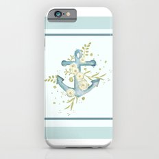 Blue anchor and flowers Slim Case iPhone 6s