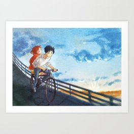 whisper of the heart - fan art Art Print