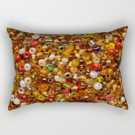 Multicolor beads assortment Rectangular Pillow