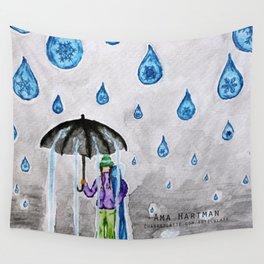 Raining Snow by Ama Hartman  Wall Tapestry