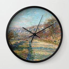 1880-Claude Monet-Road of La Roche-Guyon-60 x 73 Wall Clock