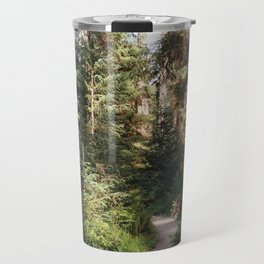 Path through the Hoh Rainforest Travel Mug