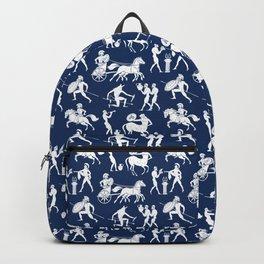 Greek Figures // Dark Blue Backpack