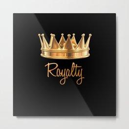 Royalty Gold Crown Metal Print