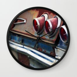 Red Tail Lights Wall Clock