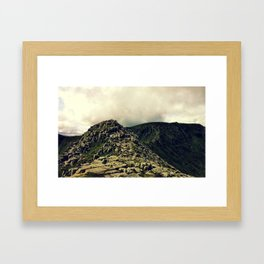 Striding Edge Framed Art Print