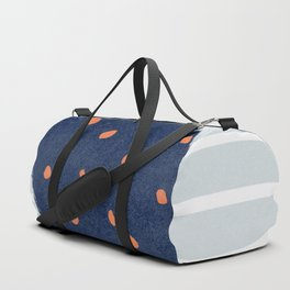 A square with dots and lines Duffle Bag