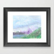 lilac pond Framed Art Print