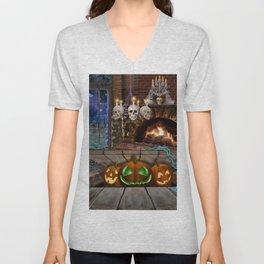 Haunted by Pumpkins Unisex V-Neck