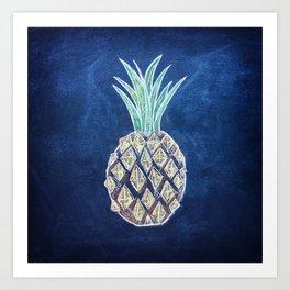 Chalk Pineapple Art Print