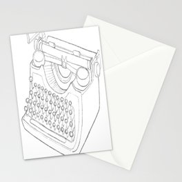 Earnest's typwriter Stationery Cards