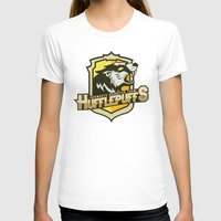 quidditch T-shirts featuring Hogwarts Quidditch Teams - Hufflepuff by Deadround