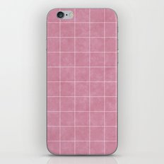 MARBLE PASTEL PINK AND GRID PATTERN iPhone & iPod Skin