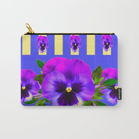PURPLE PANSIES ON LAVENDER MODERN ABSTRACT ART by sharlesart