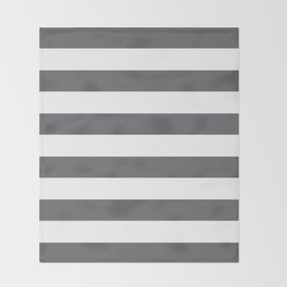Simply Striped in Storm Gray and White Throw Blanket