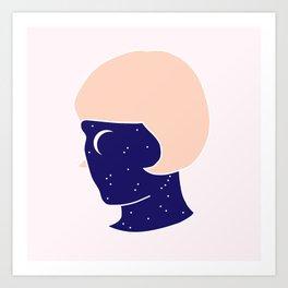 Face The Night Art Print