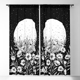 Moon Greeting Blackout Curtain