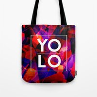 sayings Tote Bags featuring Dreams of YOLO Vol.2 by HappyMelvin