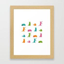 Cats-Large-Multicolor Framed Art Print