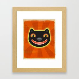 Happy Halloween Cat! Framed Art Print