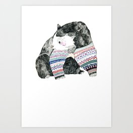 Knitted Bear Art Print
